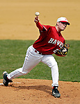 21 April 2007: University of Hartford Hawks' Kyle Perry, a Freshman from Feeding Hills, MA, on the mound against the University of Vermont Catamounts at Historic Centennial Field, in Burlington, Vermont. Perry suffered a loss as the Catamounts defeated the Hawks 3-2 to sweep the afternoon double-header...Mandatory Photo Credit: Ed Wolfstein Photo