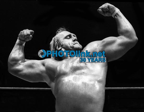 Hulk Hogan at Wrestlemania 1 in 1985<br /> Photo By Adam Scull/PHOTOlink.net