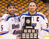 Joe Gambardella (UML - 5), Michael Kapla (UML - 3) The University of Massachusetts-Lowell River Hawks defeated the Boston College Eagles 4-3 to win the 2017 Hockey East tournament at TD Garden on Saturday, March 18, 2017, in Boston, Massachusetts.