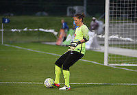 Kansas City, MO - Friday May 13, 2016: FC Kansas City goalkeeper Nicole Barnhart (18) during a regular season National Women's Soccer League (NWSL) match at Swope Soccer Village. The match ended 0-0.