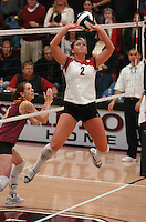 10 November 2005: Katie Goldhahn during Stanford's 3-0 win over ASU at Maples Pavilion in Stanford, CA.