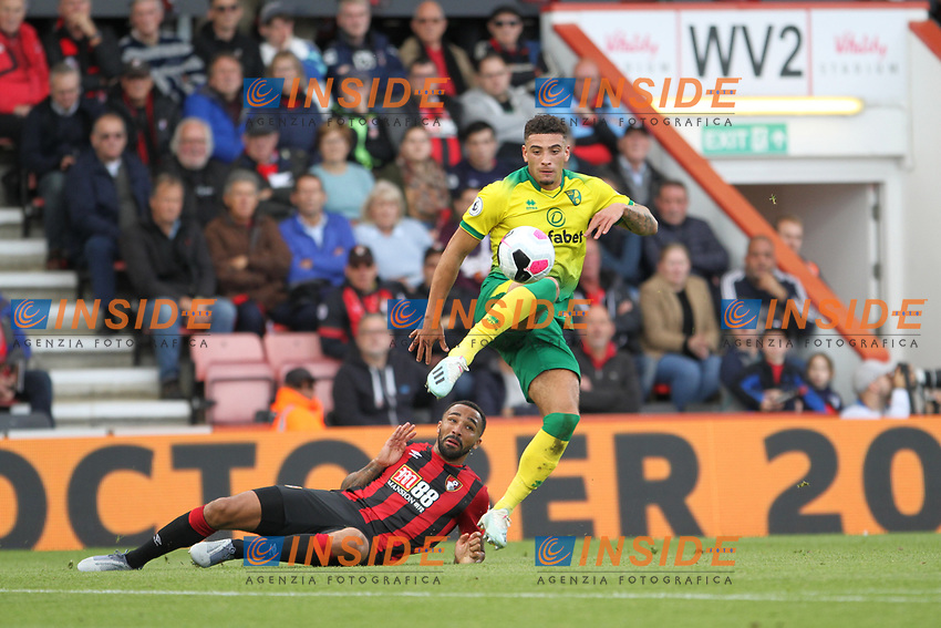Ben Godfrey of Norwich City with the ball during the Premier League match between Bournemouth and Norwich City at Goldsands Stadium on October 19th 2019 in Bournemouth, England. (Photo by Mick Kearns/phcimages.com)<br /> Foto PHC/Insidefoto <br /> ITALY ONLY