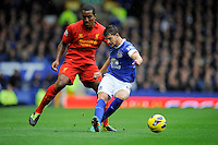 28.10.2012 Liverpool, England.  Kevin Mirallas  of Everton   in action during the Premier League game between Everton and Liverpool  from Goodison Park ,Liverpool