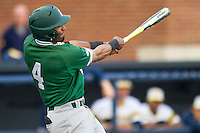 Eastern Michigan Hurons shortstop Marquise Gil (4) follows through on his swing against the Michigan Wolverines on May 3, 2016 at Ray Fisher Stadium in Ann Arbor, Michigan. Michigan defeated Eastern Michigan 12-4. (Andrew Woolley/Four Seam Images)