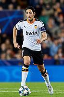 5th November 2019; Mestalla, Valencia, Spain; UEFA Champions League Football,Valencia versus Lille; Dani Parejo of Valencia CF brings the ball forward - Editorial Use