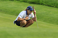Cristie Kerr (USA) on the 12th green during Thursday's Round 1 of The Evian Championship 2018, held at the Evian Resort Golf Club, Evian-les-Bains, France. 13th September 2018.<br /> Picture: Eoin Clarke | Golffile<br /> <br /> <br /> All photos usage must carry mandatory copyright credit (&copy; Golffile | Eoin Clarke)
