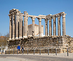 Templo Romano, Roman temple, Evora, Alto Alentejo, Portugal, southern Europe