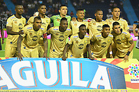 BARRANQUILLA - COLOMBIA, 16-02-2019: Los jugadores de Rionegro Águilas Doradas, posan para una foto, antes de partido de la fecha 5 entre Atlético Junior y Rionegro Águilas Doradas, por la Liga Águila I-2019, jugado en el estadio Metropolitano Roberto Meléndez de la ciudad de Barranquilla. /  The players of Jaguares F.C. pose for a photo, prior a match of the 5th date between Atletico Junior and Rionegro Aguilas Doradas, for the Aguila Leguaje I-2019 at the Metropolitano Roberto Melendez Stadium in Barranquilla city, Photo: VizzorImage  / Alfonso Cervantes / Cont.