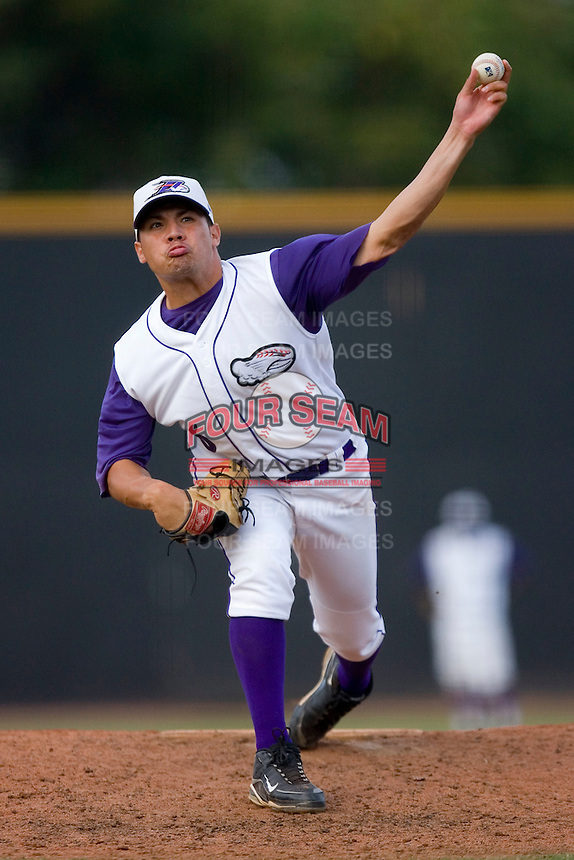 Relief pitcher Hector Santiago #6 of the Winston-Salem Dash in action versus the Lynchburg Hillcats at Wake Forest Baseball Stadium August 30, 2009 in Winston-Salem, North Carolina. (Photo by Brian Westerholt / Four Seam Images)