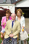 RELAXING: Margaret O'Shea, Martin Hobin and Marie McSwiney relaxing at the Kerry Hospice Garden Party in Ballygarry House Hotel & Spa, Tralee on Sunday....................................... ....