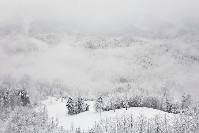Winter storm and heavy snow, Flint Mountain