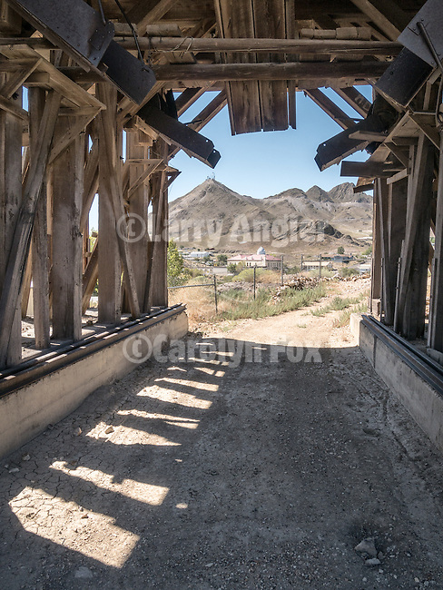 Silver Top Mine grizzly, historic mining park, Tonopah, Nev.