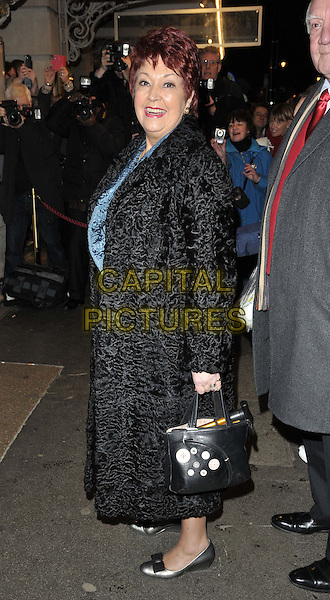 LONDON, ENGLAND - FEBRUARY 25: Ruth Madoc attends the &quot;The Full Monty&quot; press night, Noel Coward Theatre, St Martin's Lane, on Tuesday February 25, 2014 in London, England, UK.<br /> CAP/CAN<br /> &copy;Can Nguyen/Capital Pictures
