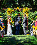 Wedding ceremony at Avila Valley Barn