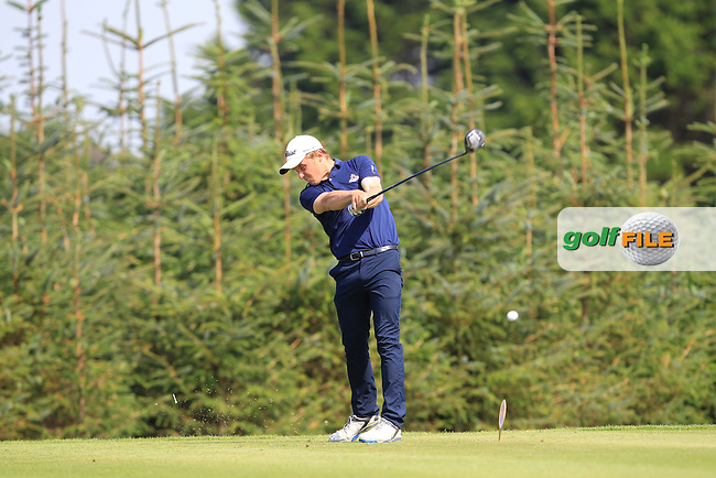 Robbie Pierse (Grange) on the 8th tee during Matchplay Day 2 of the AIG Irish Amateur Close Championship at Tramore Golf Club on Friday 21th August 2015.<br /> Picture:  Thos Caffrey / www.golffile.ie