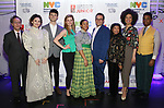 Students from Frank Sinatra School of the Arts with Phil Weinberg, Charlie Stemp, Molly Griggs, Peter Avery, Baayork Lee, Sasha Hutchings backstage at The Fourth Annual High School Theatre Festival at The Shubert Theatre on March 19, 2018 in New York City.
