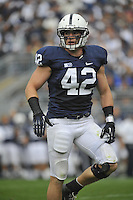 06 October 2012:  Penn State LB Michael Mauti (42). The Penn State Nittany Lions defeated the Northwestern Wildcats 39-28 at Beaver Stadium in State College, PA.
