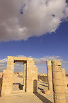 Isarael, Negev, Avdat, built in the 1st century by the Nabateans. A world Heritage Site as part of the Spice Route, ruins of the Nabatean Temple
