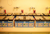 Rows of incubators are lined up in the lab at Shady Grove Fertility Center in Rockville, Maryland on May 3, 2013.