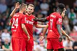 20.07.2019, Heinz-Dettmer-Stadion, Lohne, GER, Interwetten Cup, VfL Osnabrueck vs 1. FC Koeln<br /><br />im Bild<br />Jubel 0:2, Dominick Drexler (Koeln #24) bejubelt seinen Treffer zum 0:2 mit Benno Schmitz (Neuzugang Koeln #02), Kingsley Schindler (Koeln #11), <br /><br />Foto © nordphoto / Ewert