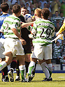 20/08/2005         Copyright Pic : James Stewart.File Name : jspa28 rangers v celtic.NEIL LENNON HAS A GO AT REF STUART DOUGAL AT THE END OF THE GAME.....Payments to :.James Stewart Photo Agency 19 Carronlea Drive, Falkirk. FK2 8DN      Vat Reg No. 607 6932 25.Office     : +44 (0)1324 570906     .Mobile   : +44 (0)7721 416997.Fax         : +44 (0)1324 570906.E-mail  :  jim@jspa.co.uk.If you require further information then contact Jim Stewart on any of the numbers above.........