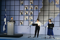 Montreal (QC) CANADA  file photo - <br /> Election night od Dec 2nd 1985 when the Parti Quebecois lost to the Liberal of Robert Bourassa