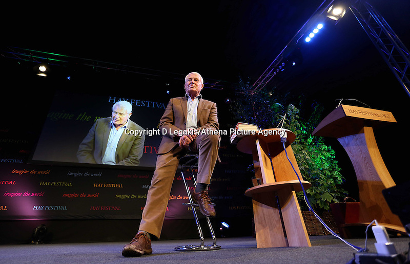 Wednesday 28 May 2014, Hay on Wye, UK<br /> Pictured: Lord Paddy Ashdown<br /> Re: The Hay Festival, Hay on Wye, Powys, Wales UK.