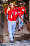 28 February 2017: Washington Nationals pitcher Dustin Antolin steps up from the tunnel and into the dugout prior to the inaugural Spring Training game between the Washington Nationals and the Houston Astros at the Ballpark of the Palm Beaches in West Palm Beach, Florida. The Nationals defeated the Astros 4-3 in Grapefruit League play. Mandatory Credit: Ed Wolfstein Photo *** RAW (NEF) Image File Available ***