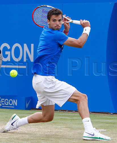 16.06.12 Queens Club, London, ENGLAND: ..Grigor Dimitrov BUL..mens singles semi-final round match during Grigor Dimitrov BUL versus David Nalbandian ARG on day Six of the Aegon Championships at Queens Club ..on June 16, 2012 in London , England.........