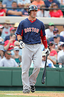Boston Red Sox Ryan Kalish #55 during a spring training game vs. the Detroit Tigers at Joker Marchant Stadium in Lakeland, Florida;  March 15, 2011.  Boston defeated Detroit 2-1.  Photo By Mike Janes/Four Seam Images