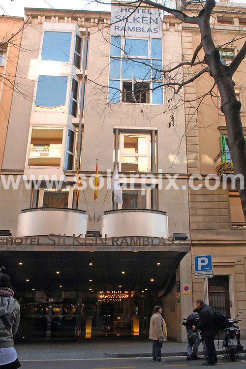 **ALL ROUND PICTURES FROM SOLARPIX.COM**                                             **WORLDWIDE SYNDICATION RIGHTS**                                                                                  Caption: General views of the Hotel Silken on Las Ramblas in Barcelona, Spain, where a British man killed his brother-in-law in a fight. The dead man, named only as Stephen S (48 years old) was alleged to have been killed by David Keith B (49 years old) after a fight at 2 o'clock this morning. Barcelona, Spain. 4 February 2011.FULL STORY BY TOM WORDEN +34 680 152 448 .                                                   This pic: Hotel Silken, Barcelona                                                                                             JOB REF: 12748 NSP       DATE: 04_02_2011                                                           **MUST CREDIT SOLARPIX.COM OR DOUBLE FEE WILL BE CHARGED**                                                                      **MUST AGREE FEE BEFORE ONLINE USAGE**                               **CALL US ON: +34 952 811 768 or LOW RATE FROM UK 0844 617 7637**