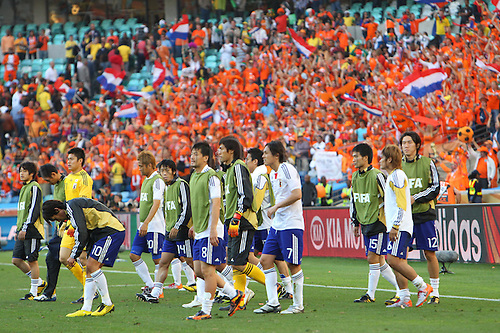 Japan team group (JPN), .JUNE 19, 2010 - Football : .2010 FIFA World Cup South Africa .Group Match -Group E- .between Netherlands 1-0 Japan .at Durban Stadium, Durban, South Africa. .
