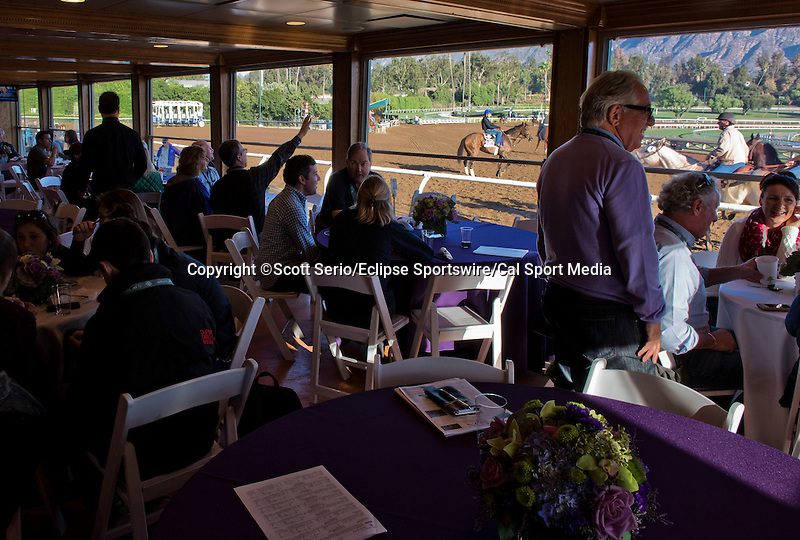 October 29, 2014: Scenes from the Breeders' Cup Trackside Marquee as horses prepare for the Breeders' Cup at Santa Anita Race Course in Arcadia, California on October 29, 2014. Scott Serio/ESW/CSM