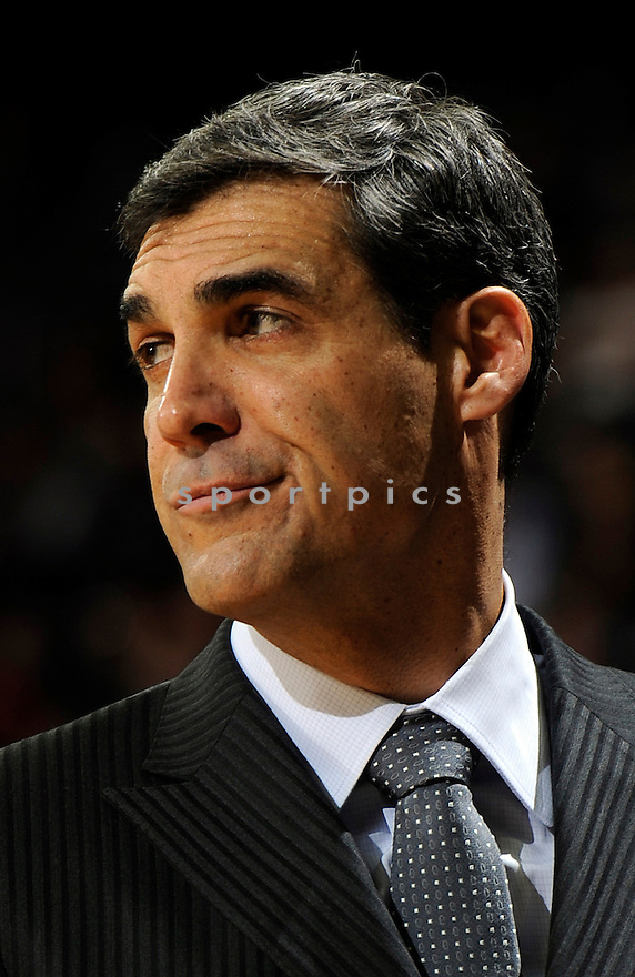Villanova Wildcats Jay Wright (HC) during a game against Notre Dame on January 30, 2013 at the Purcell Pavilion in South Bend, IN. Notre Dame beat Villanova 65-60.