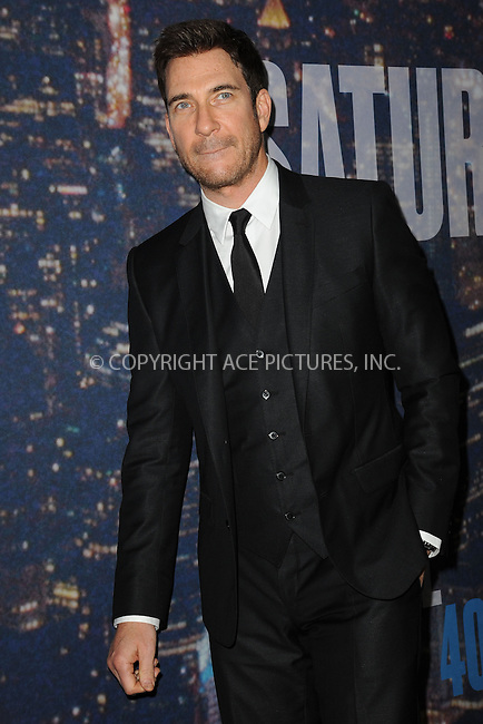 WWW.ACEPIXS.COM<br /> February 15, 2015 New York City<br /> <br /> Dylan McDermott walking the red carpet at the SNL 40th Anniversary Special at 30 Rockefeller Plaza on February 15, 2015 in New York City.<br /> <br /> Please byline: Kristin Callahan/AcePictures<br /> <br /> ACEPIXS.COM<br /> <br /> Tel: (646) 769 0430<br /> e-mail: info@acepixs.com<br /> web: http://www.acepixs.com