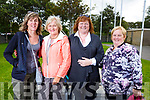 Nicola O'Connor (Ardfert), Kathleen Barry (Cork), Martha Leen (Ardfert) and Evonne O'Sullivan (Ardfert) supporting the cyclists at the Ardfert Kids Cycle at the School on Sunday morning.