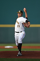Bradenton Marauders pitcher Frank Duncan (19) delivers a pitch during a game against the St. Lucie Mets on April 11, 2015 at McKechnie Field in Bradenton, Florida.  St. Lucie defeated Bradenton 3-2.  (Mike Janes/Four Seam Images)