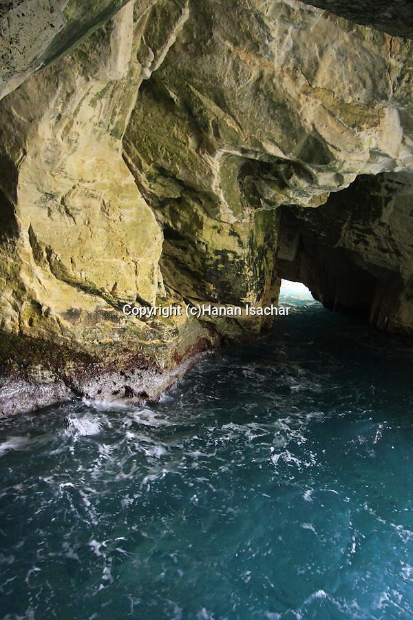 Israel, Galilee Coastal Plain, the grottos at Rosh Hanikra