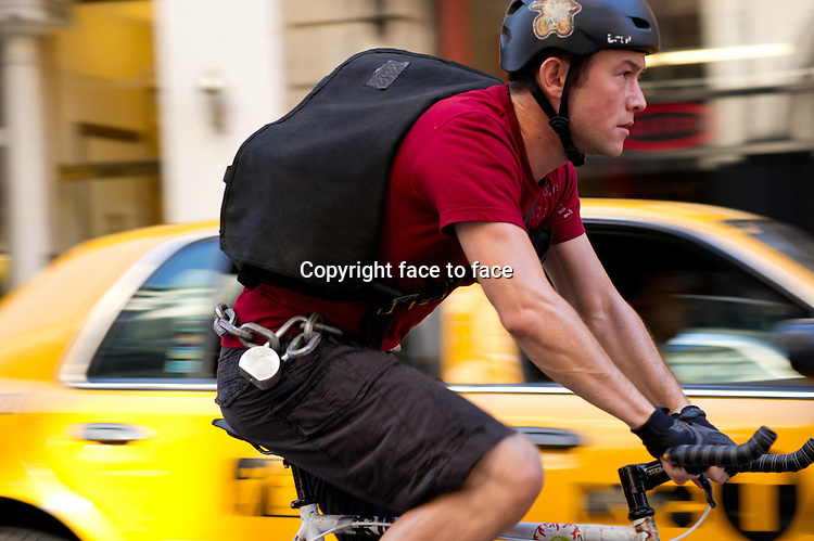 """Joseph Gordon-Levitt as """"Wilee"""" in Premium Rush...- Editorial Use Only -..Supplied by face to face"""