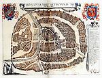 Map of Moscow, 1572. Artist: Braun, Georg (1541-1622)
