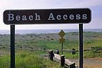 Beach Access sign, Redwood National Park, near Orick, Humboldt County, CALIFORNIA