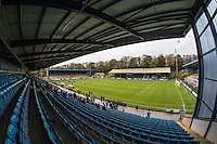 General view of the Stadium during the FA Cup 1st Round match between FC Halifax Town and Wycombe Wanderers at The Shay Stadium, Shaw Hill, Halifax, West Yorkshire, England on 8 November 2015. Photo by Andy Rowland.