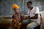 Sick patient at MSF mobile clinic in Central African Republic