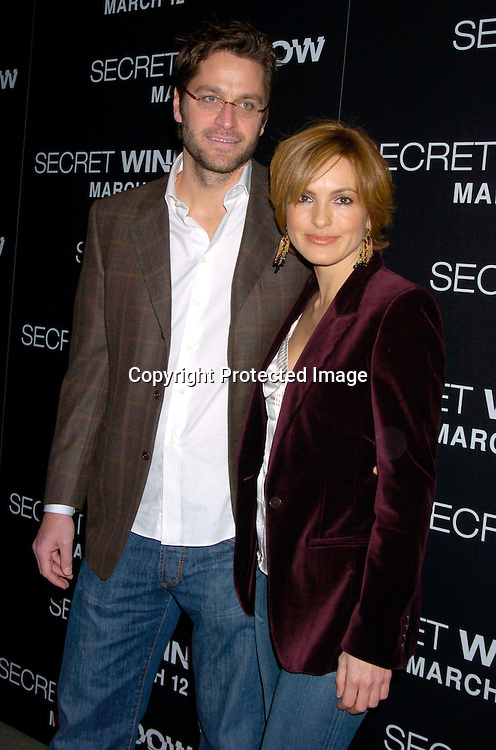 "Mariska Hargitay and Peter Hermann..at the World Premiere of ""Secret Window"" on March 7, 2004 at the Loews Lincoln Square.                                   Photo by Robin Platzer, Twin Images"