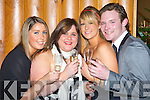 TOAST: Ciara Sheehan, Niamh O'Connor, Lynne Cosgrave and Ciaran McCarthy, all Killarney, toasting the new year at the New Year's Eve Gala ball held in the Malton Hotel, Killarney, on Monday.    Copyright Kerry's Eye 2008