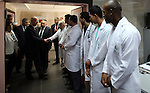 Palestinian Prime Minister Rami Hamdallah take part in the opening of the Nablus Medical Complex charitable in the West Bank city of Nablus on June 4,2016. Photo by Prime Minister Office