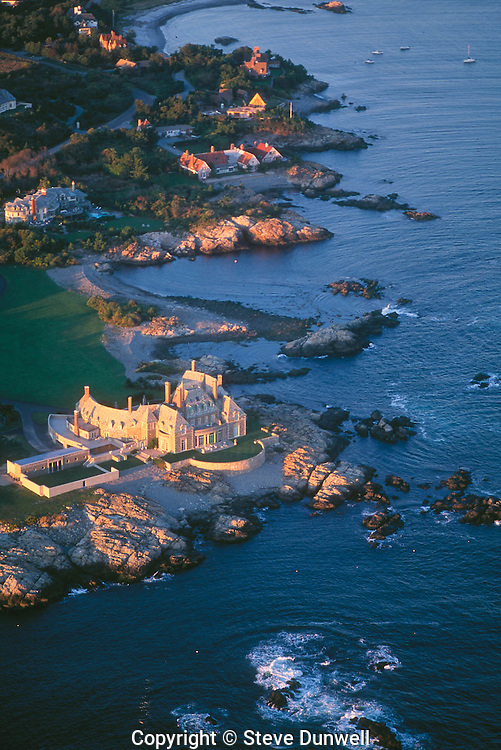 House on Ocean Drive,  aerial, Newport, RI