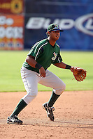 June 23rd 2008:  Jesus Rojas of the Jamestown Jammers, Class-affiliate of the Florida Marlins, during a game at Dwyer Stadium in Batavia, NY.  Photo by:  Mike Janes/Four Seam Images