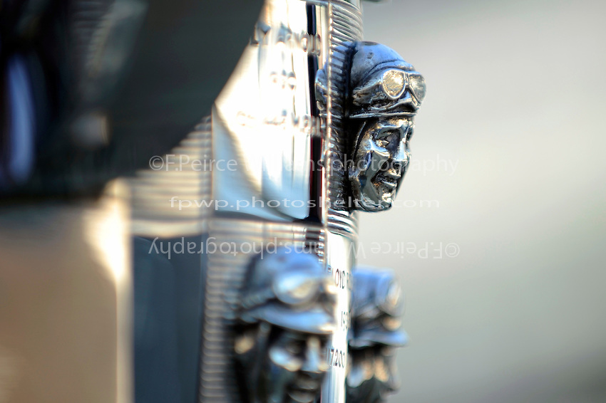 The likeness of 1938 Indianapolis 500 Winner Floyd Roberts on the Borg-Warner Trophy.