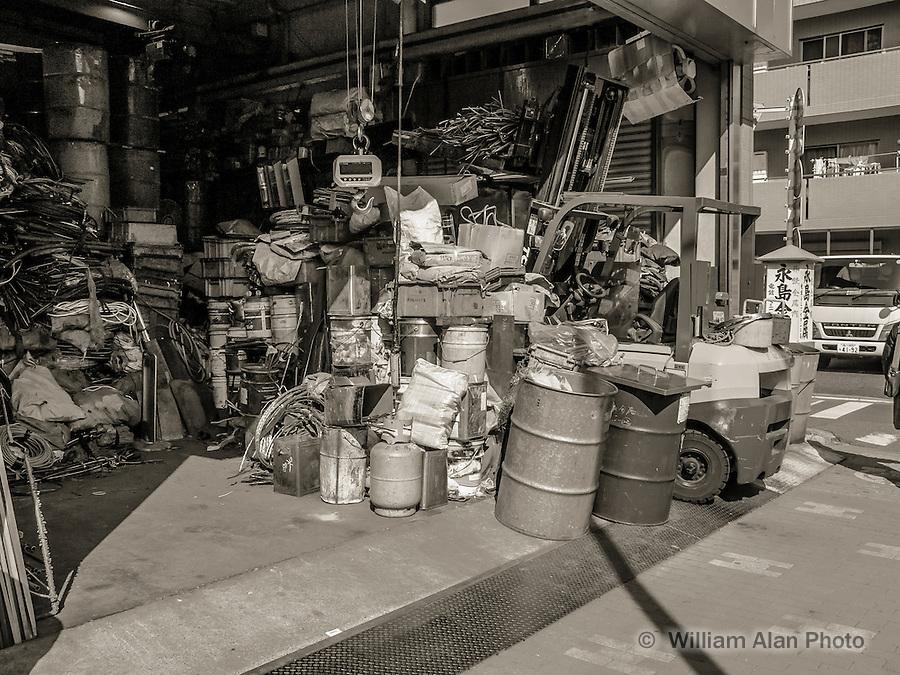 Garage Full of Wire in Ota, Japan 2014.